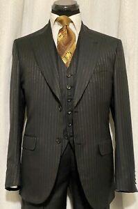 New Brioni Golden Stripe  Suit  40R