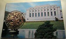 Switzerland Geneve Palais des Nations Sphere Armillaire 527 Iris - posted 1962