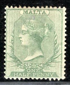 MALTA QV ½d Halfpenny Stamp Large Part Gum OG {samwells-covers} OBLUE67