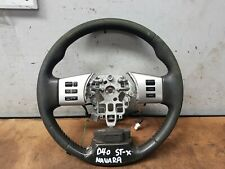 NISSAN NAVARA D40 ST-X 2010 MDL LEATHER STEERING WHEEL WITH SWITCHES SPANISH VSK