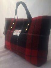 Harris tweed handbag red bl tartan bag womens gift for her womans gift Scottish