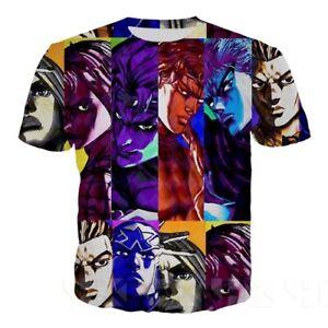 JoJo Bizarre Adventure Unisex Women Men T-Shirt 3D Print Short Sleeve Tee Tops