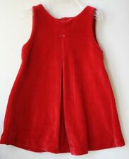 RALPH LAUREN BABY RED VELOUR DRESS 12 MONTHS