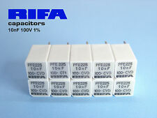 10nF -100V 1% RIFA PFE225 extended Foil Polystyrene Audio Caps !!  x 100 PIECES