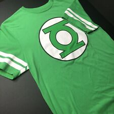 DC Comics Green Lantern Men's T-Shirt striped arm Classic Green Adult M