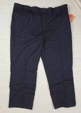 Dickies Insect Shield Mens Navy Blue Cotton Flat Front Work Pants SZ 48X32 - NEW