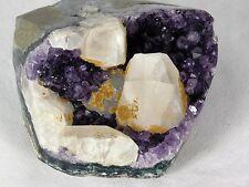 AMU124 Uruguayan Dark Purple Free Standing Amethyst Quartz Geode Crystal Gift