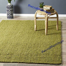 Natural Braided Handmade Bohemian Hand Woven Jute Floor Decor Rectangle 4x6 Feet