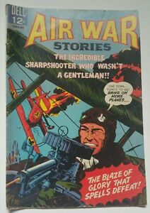 AIR WAR STORIES #7 (1966) DELL COMICS  F-