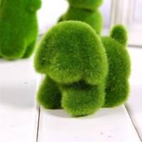 Cute Dog Squirrel Alpaca Animal Shape Emulational Green Grass Desktop Ornament b