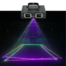 2 Len Red Green Blue Beam Laser Light DMX DJ Party Club Bar Show Stage Lighting