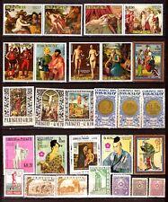 PARAGUAY neufs ,tableaux célebres, pieces de monnaies, art japonais PR633