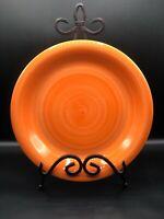 1 CITRUS GROVE Orange Brush Stroke Hand Painted Dinner Plate