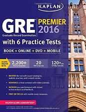 GRE Premier 2016 with 6 Practice Tests: Book + Online + DVD + Mobile by Kaplan