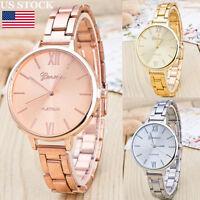 Retro Fashion Womens Men Stainless Steel Analog Alloy Quartz Wrist Watch Watches