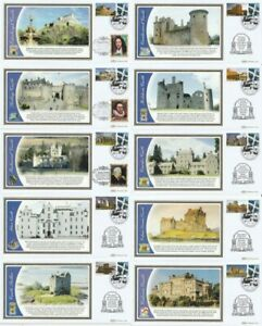 30 NOV 2009 CASTLES OF SCOTLAND BENHAM ALL 10 FIRST DAY COVERS ONLY 100 SETS
