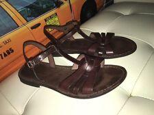 Modern Fiction Dark Brown Boho Hippie Strappy Leather Sandals 41/10.5