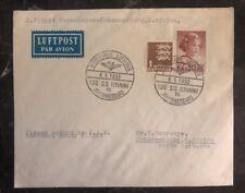 1953 Copenhagen Denmark First Flight cover FDC To Johannesburg South Africa