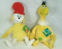 "Dr Seuss Sneetchers and Sam I Am 18"" Stuffed Animals Plush Yellow Lot of 2"