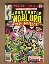 JOHN CARTER WARLORD OF MARS #1 (VF+) 1977 Marvel Gil Kane cover & art ERB n2060