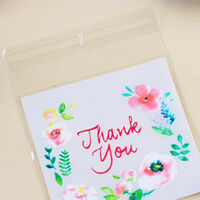 100pcs Small Cellophane Bags Clear Gift Party Chocolate Lollipop Cello Bags