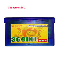 For GBA NDS GBA SP GBM NDS NDSL 369 in 1 Game Cartridge Multicart