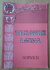 Steaming programme Theatre Royal Norwich 1984 Nell Dunn Anna Karen Clare Kelly