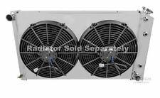 """Monte Carlo Custom Aluminum Radiator Fan Shroud & 2-12"""" Fans -17""""H x 26 1/4""""W"""