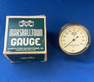 Antique? Vintage marshalltown Brass gauge infilco max flow INF-TS-106-29