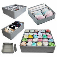 3x Underwear Sock Tie Storage Organizer Drawer Bra Pants Divider Tidy Wardrobe