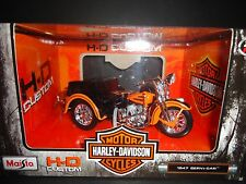 Maisto Harley Davidson 1947 Servi Car Orange 1/18