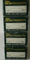 4 K-LINE THE HEAVYWEIGHTS PASSENGER TRAIN CARS O SCALE WITH BOX