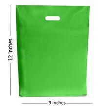 150-light green plastic bags/gift shop boutique bag ~ 22.9x30.5cm