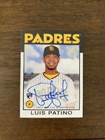 2021 Topps Series 1  Luis Patino - 1986 Topps  RC Auto On-Card SD PADRES
