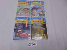 4 VTECH V-READER NEW GAME LOT SHREK-DORA-CARS-TOY STORY 3-V-TECH