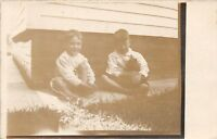 C98/ Toledo Ohio Postcard Real Photo RPPC 1909 Boys Smiling Home