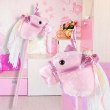 Mädchen Stecken Pferd Sound Effekt Plüsch Einhorn Wolle  Kinder Spielzeug rosa