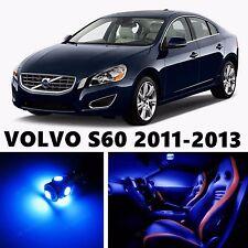 12pcs LED Blue Light Interior Package Kit for VOLVO S60 2011-2013