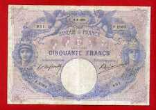 (Ref: F.236) 50 FRANCS BLEU ET ROSE 8/08/1903  (TB)  RARE