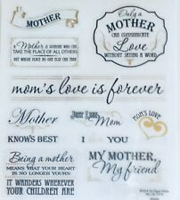Mother Love Mom Scrapbook Stickers Phrases