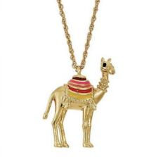 KATE SPADE 12K Gold Plated Spice Things Up Camel Mini Pendant Necklace NEW