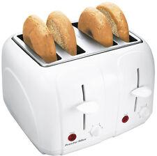 Proctor Silex Cool Touch 4 Slice Toast Boost Auto Shutoff Kitchen Toaster, White