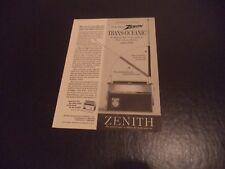 ZENITH Trans Oceanic Royal 3000 Vintage anuncio Num 4