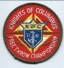k of C Knights of Columbus free throw championship patch 3 in dia