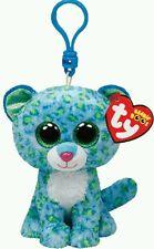 TY PELUCHE LEONA THE BLUE LEOPARD Beanie Boos Plush Portachiavi Keychain Toy