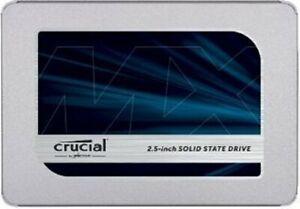 """Crucial 1TB 2.5"""" SSD-Micron 3D NAND-SATA-III-MX500 Series-560MB/s R-510MB/s W"""