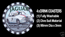 4  x  JAGUAR DAVID McKAY 1960 TOURING MOTOR CAR CHAMPION, DRINK COASTERS,