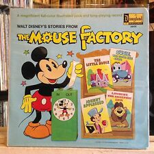 [CHILDREN/KIDDIE BREAKS]~VG+/EXC LP~DISNEY~Stories From The Mouse Factory (Walt