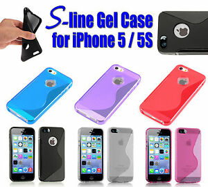 S-LINE GEL CASE FOR IPHONE 5/5S TPU RUBBER COVER SILICONE WAVE BUMPER S STYLE