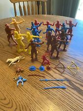 """1964 Marx 6 """" Plastic Cowboy & Indian Figure And Other 5� Cowboys And Indians"""